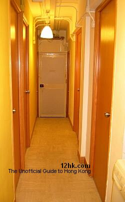 hallway of inexpensive serviced apartment